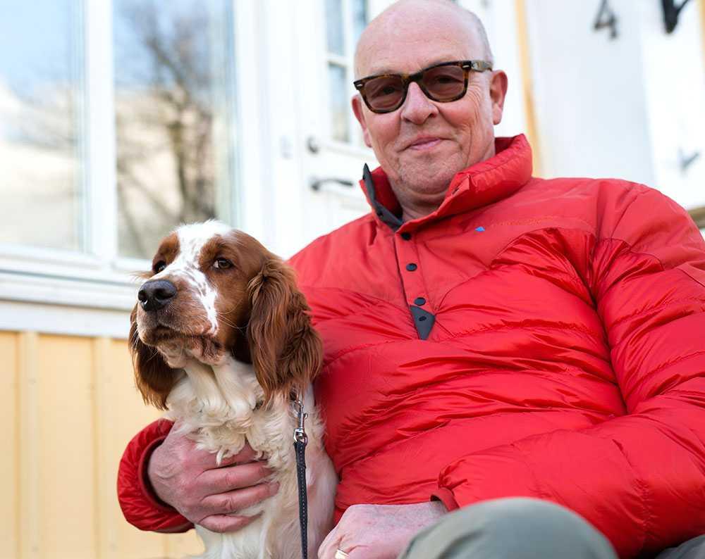 När Angus sprang bort på nyårsafton la hans husse, Per Camling, 70, ut en bild på spanieln på Facebook. Angus hittades av en pojke redan på nyårsnatten.