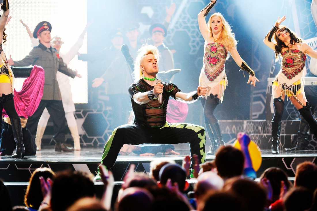 Spektakulär pausunderhållning på Melodifestivalen 2009.