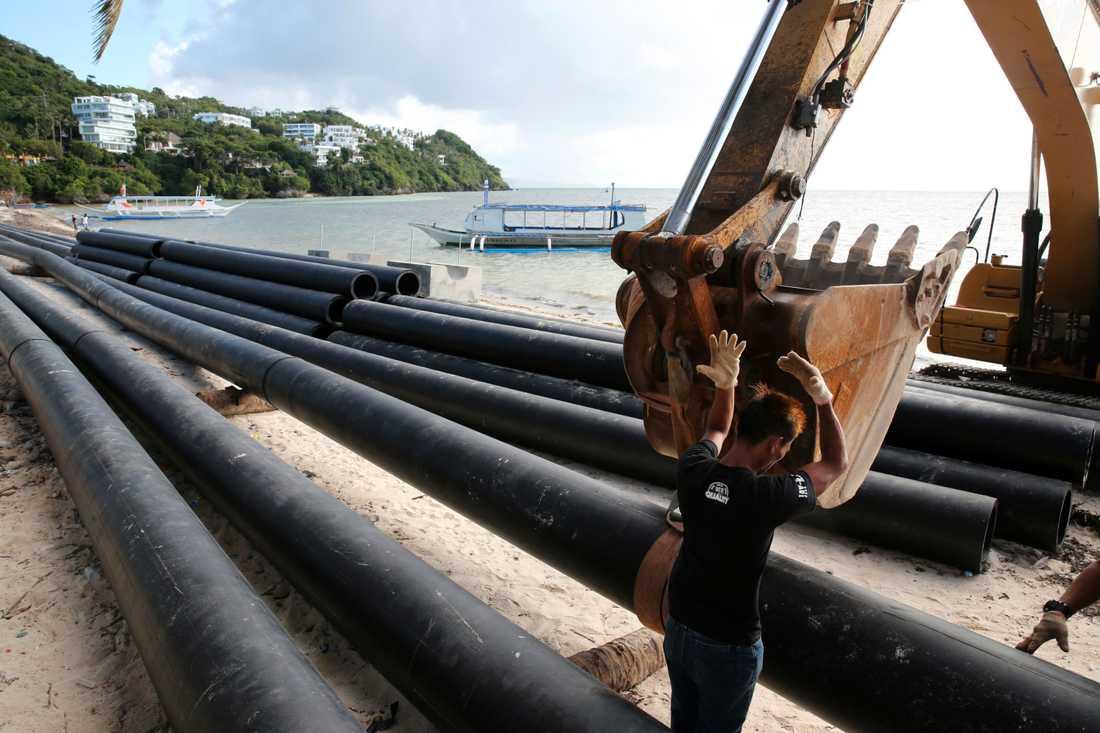 Nya avlopp är en av de åtgärder som ska genomföras på Boracay under månaderna då ön hålls stängd.