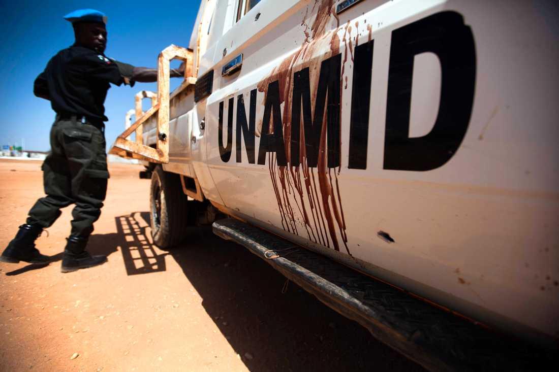 Den fredsbevarande insatsen Unamid lämnar Sudan. Arkivbild.