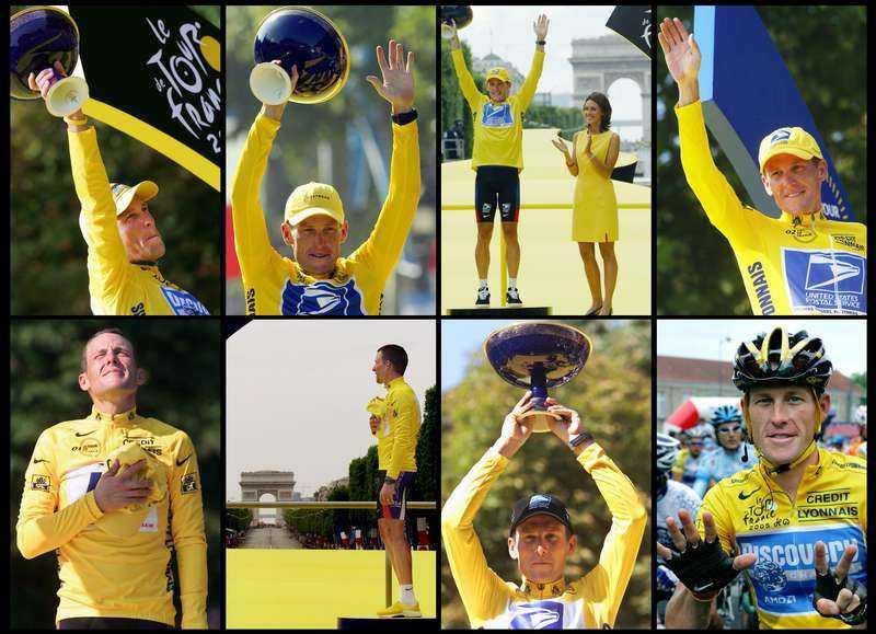 """UTRADERAD HISTORIA Lance Armstrong blev en av idrottshistoriens legendarer när han vann Tour de France sju år i rad. Nu är de titlarna utraderade. """"Den här utredningen har aldrig handlat om att få fram sanningen eller att städa upp cykelsporten, utan om att straffa mig till varje pris"""", skriver Armstrong i ett uttalande på sin hemsida."""
