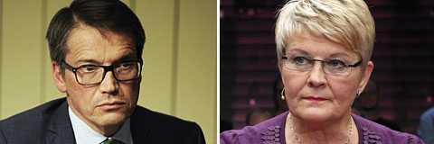 Krisdemokraternas Göran Hägglund och Maud Olofsson kan gynnas av taktikröstarna.