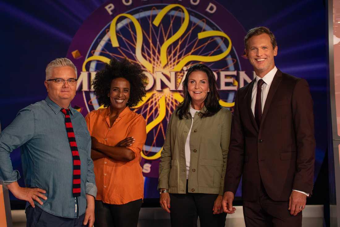 Jan Gradvall, Marika Karlsson och Titti Schultz utgör den nya stjärnpanelen.