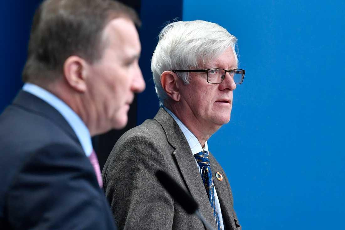Johan Carlson meddelade på fredagens pressträff vilka som får vaccinet först.