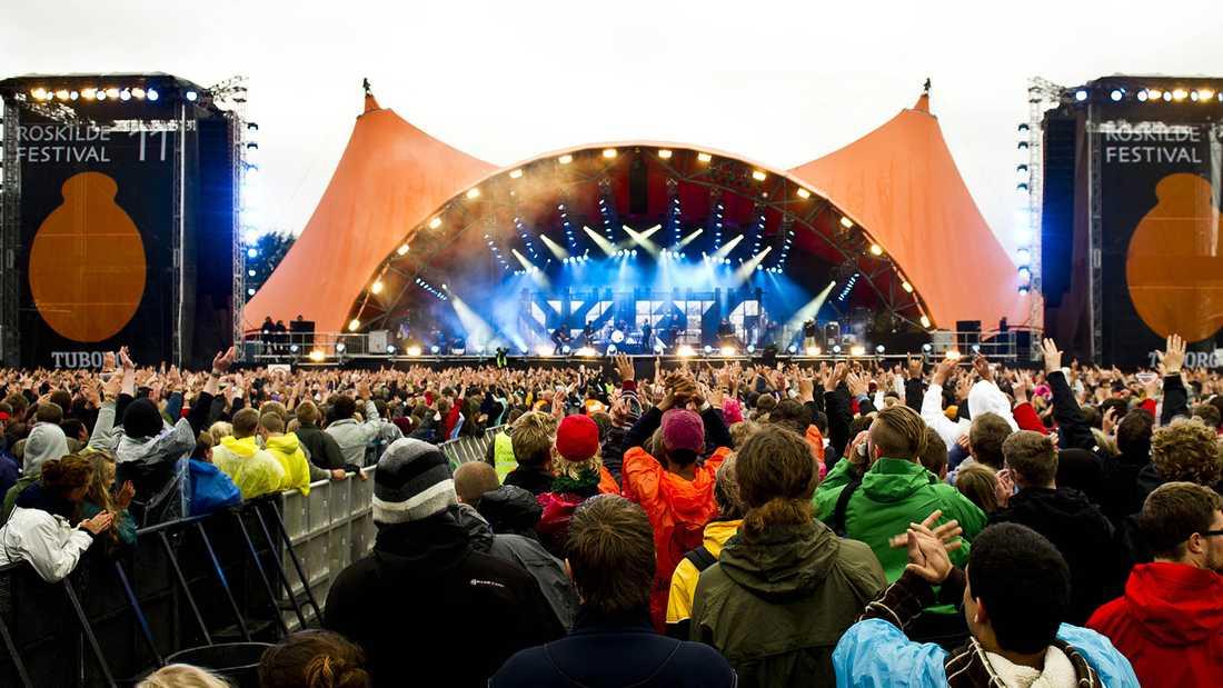 Roskilde när festivalen inleddes.