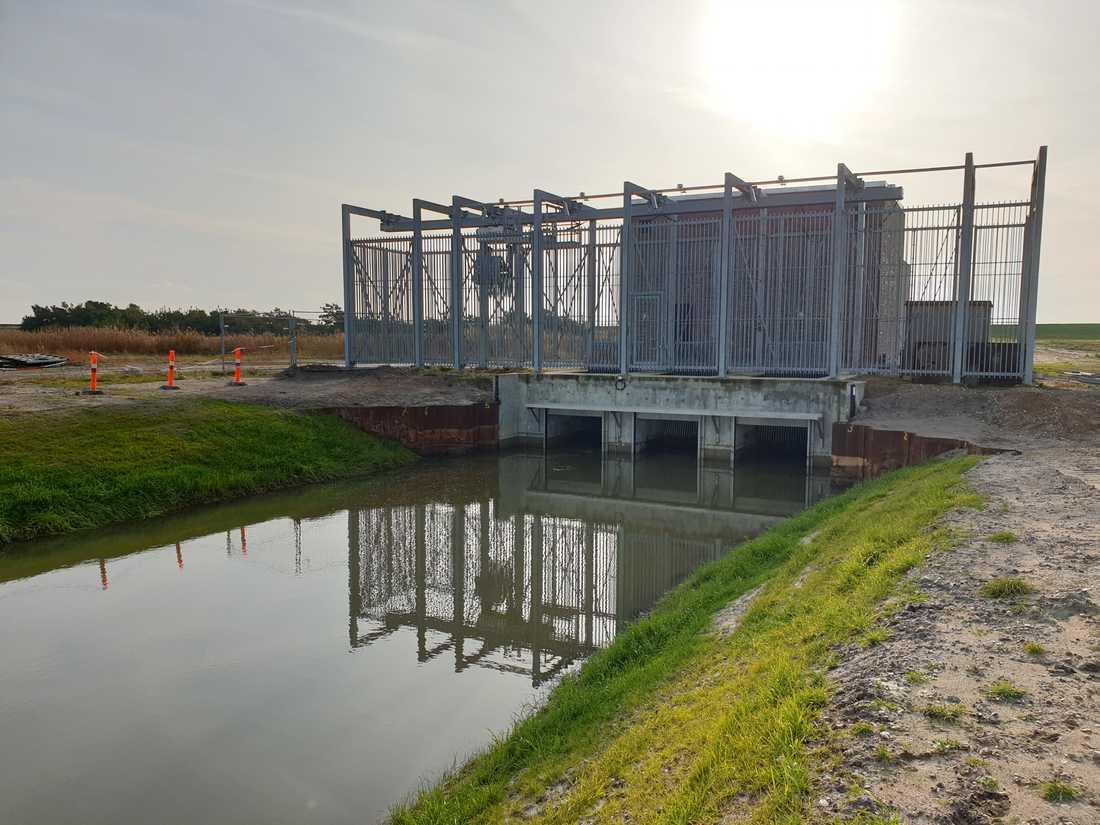Byggarbetsplatsen för bygget av Fehmarn-Bält-förbindelsen mellan Danmark och Tyskland. Bilderna är tagna på den danska sidan.