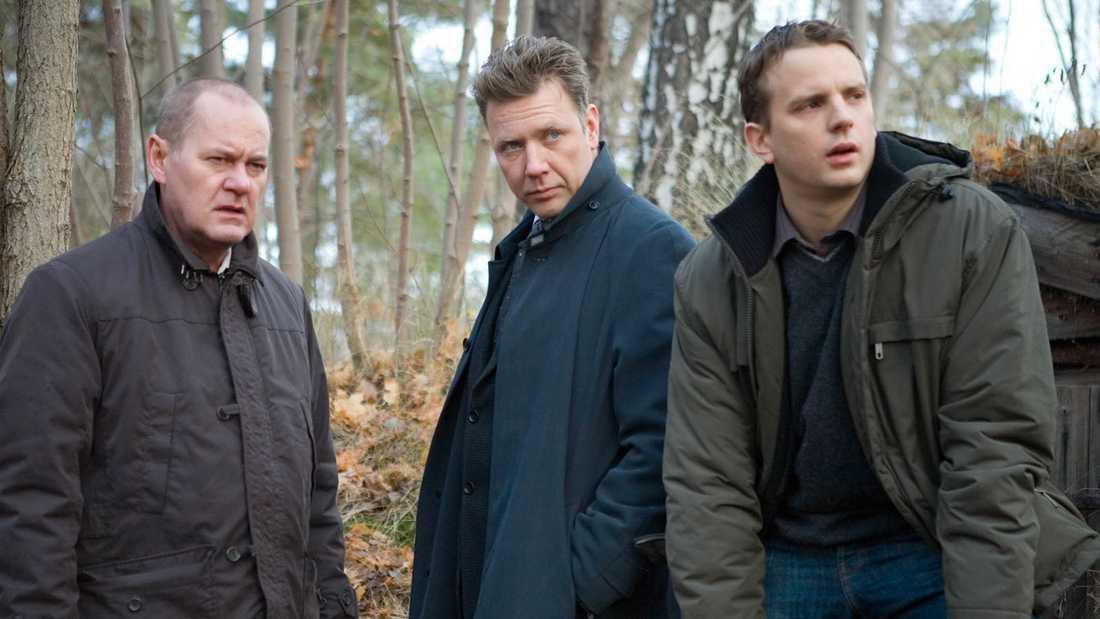 "Peter Haber, Mikael Persbrandt och Måns Nathanaelson i ""Beck""."
