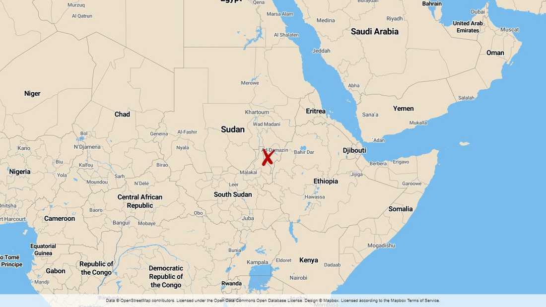 Dammolyckan skedde i sydöstra Sudan, nära gränsen till Etiopien.