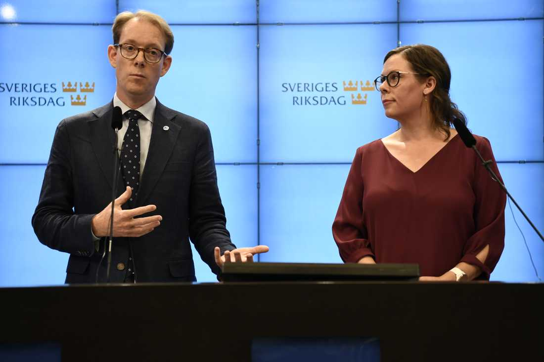 Tobias Billström och Maria Malmer Stenergard (m).