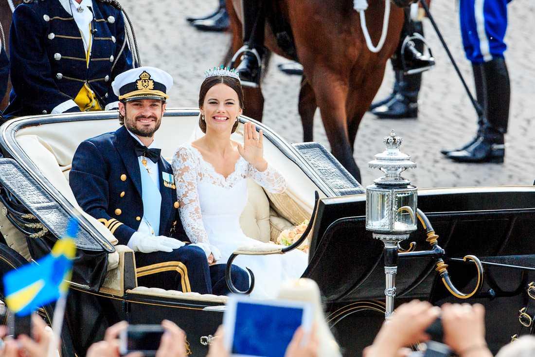 Bröllopet mellan Carl Philip och Sofia Hellqvist juni 2016.