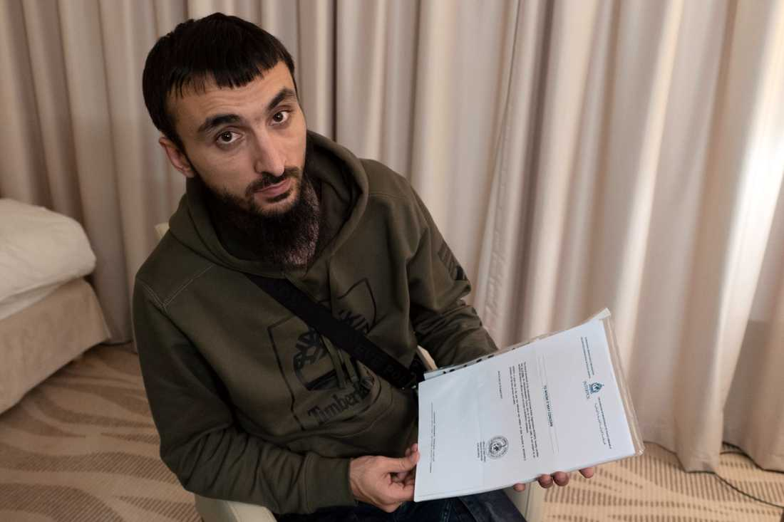 Den tjetjenske bloggaren Tumso Abdurachmanov. Arkivbild.