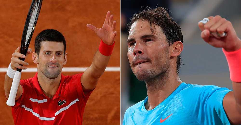 Novak Djokovic och Rafael Nadal.