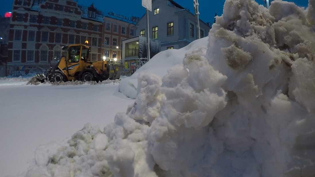 Snöigt i Stockholm.