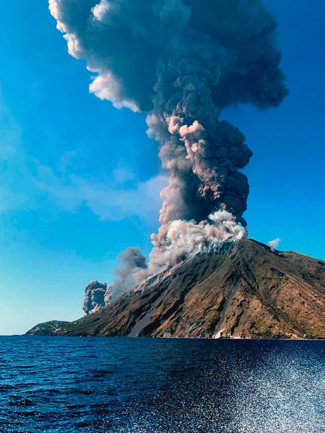 Vulkanen på italienska ön Stromboli.