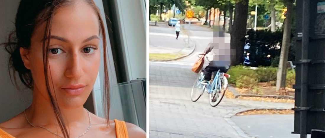 Samtidigt som Jessica Demir sprang efter rånaren på cykeln lyckades hon ta ett foto av honom - ifall hon skulle tapppa bort honom.