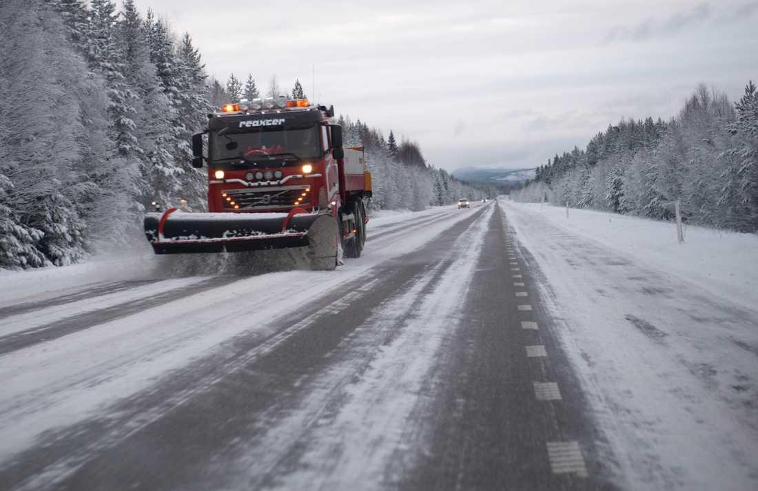 Det är tidigt på säsongen, men nederbörd och minusgrader innebär att snön som faller över norra Norrland i helgen kan ligga kvar i flera dagar. Arkivbild.
