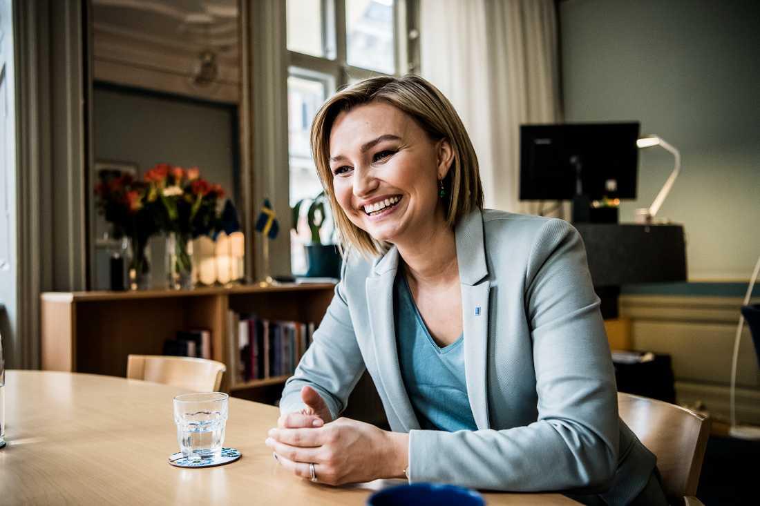 Ebba Busch Thor i en intervju med Aftonbladet.