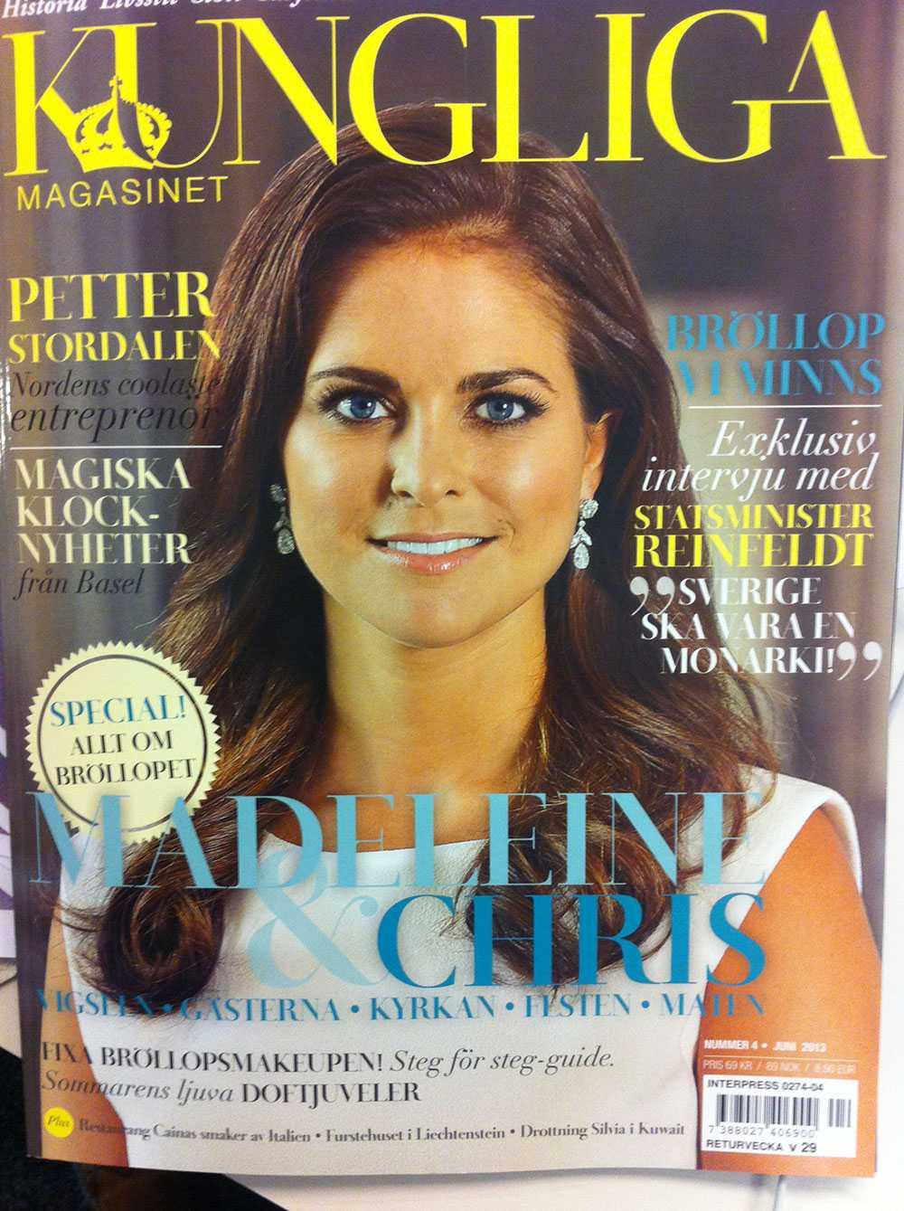 Fredrik Reinfeldt är intervjuad i senaste numret av tidningen Kungliga Magasinet.