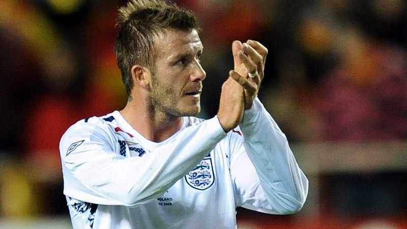 Beckham under onsdagens landskamp.