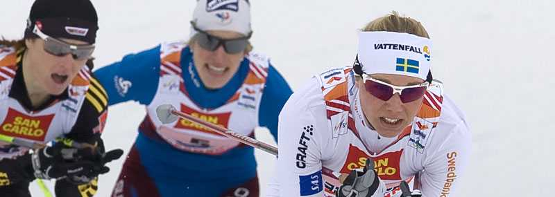 Anna Olsson jagas i sprintstafetten.
