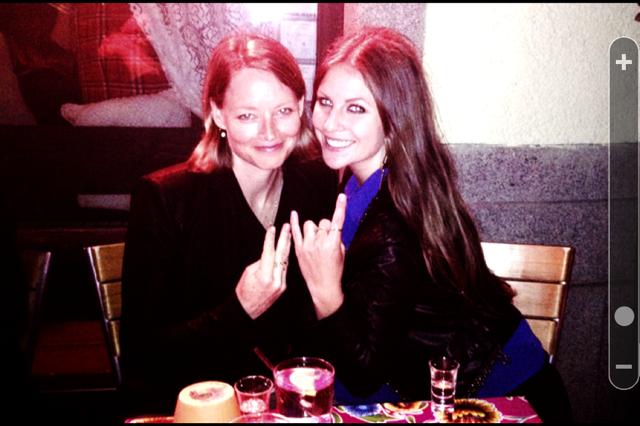 Jodie Foster och Aftonbladets Anna Flemmert.
