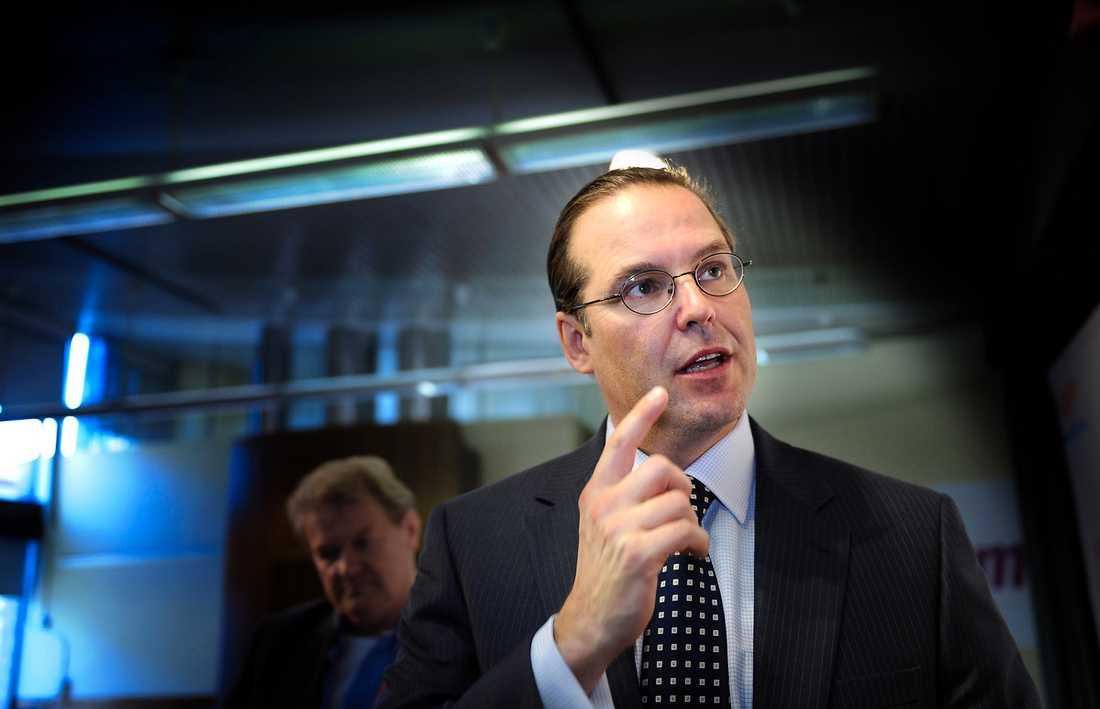 """KRITISERAR RÄNTORNA – IGEN """"Det är viktigt att vi sätter ett tryck på bankerna"""", säger Anders Borg som menar att de har allt för höga vinstmarginaler."""