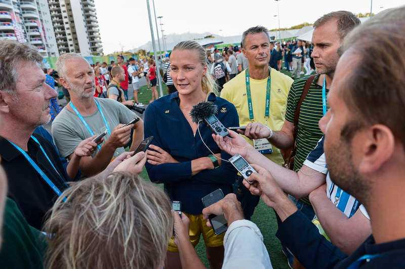 inga miljoner  Om Sarah Sjöström tar OS-guld får hon en bonus av SOK – en maskot.