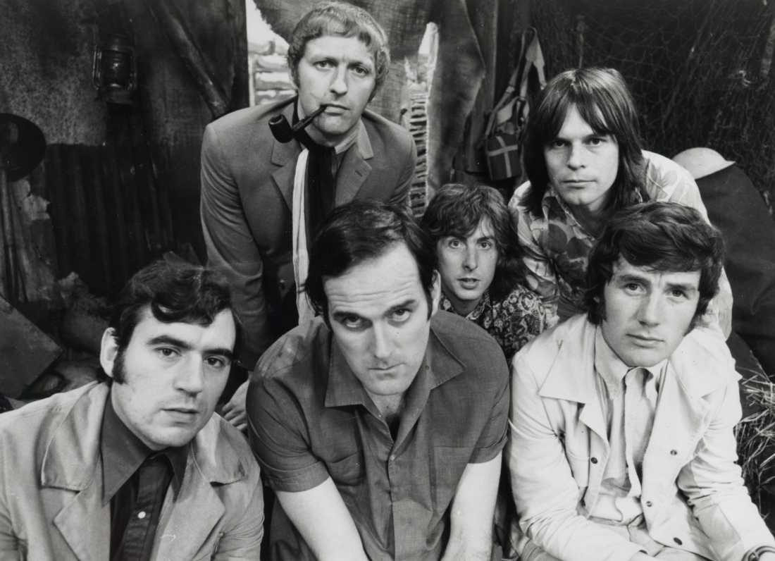 Monty Python back in the days. Terry Jones, John Cleese, Graham Chapman, Eric Idle, Terry Gilliam, Michael Palin.