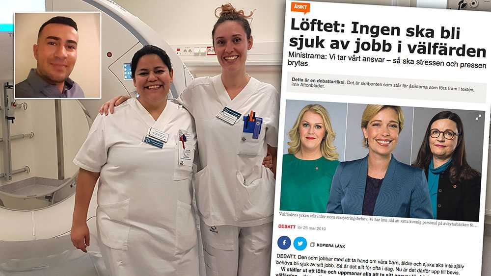Överlag gillar vi det ni skriver – att ni vill ha friska arbetsplatser, mer resurser, fler kollegor, och minskad administration. Men vi känner att ni har missat en viktig del i att bibehålla kompetens i yrket. Lönen, skriver tre  röntgensjuksköterskor.