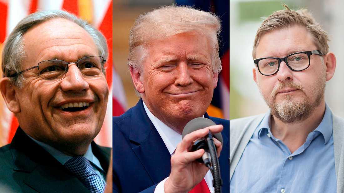 """Bob Woodwards nya bok """"Rage"""" """"snittar upp Trump genom att elegant och flyhänt bara skildra vad Trump säger och gör. Det räcker ju. Men det är djupt meningslöst"""" skriver Fredrik Virtanen."""