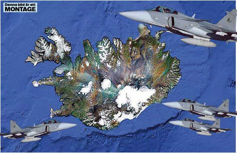 NORDISKT FÖRSVAR? Svenska Jas kan bevaka Island om Thorvald Stoltenbergs förslag om ett nordiskt försvarssamarbete blir verklighet.