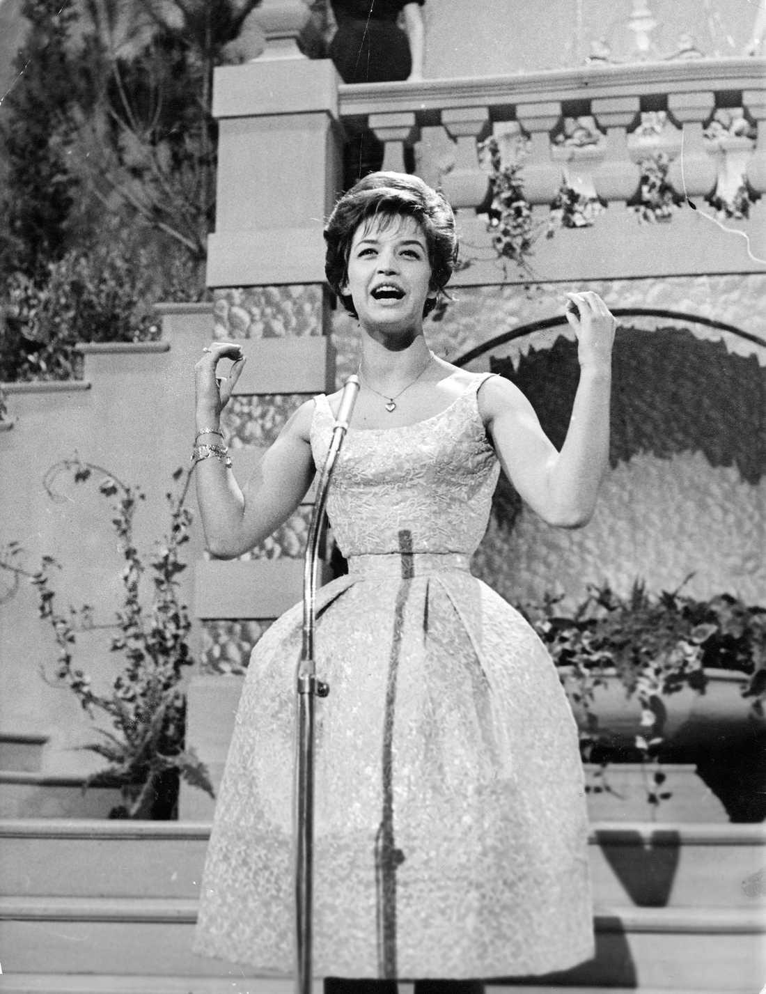 Lill-Babs på eurovisionsschlagerfestivalen 1961,