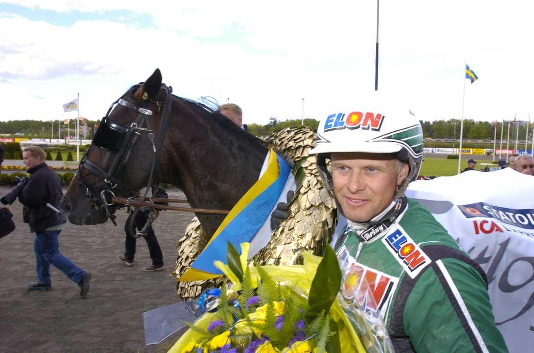 Gidde Palema och Åke Svanstedt efter segern i Elitloppet.