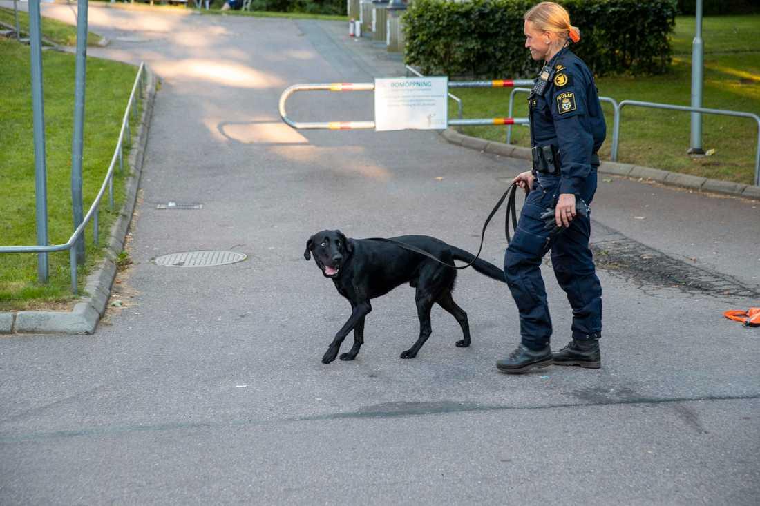 Flera gånger den senaste tiden har kriminella upprättat vägspärrar i Angered i nordöstra Göteborg. Polisen har svarat med ökad närvaro.