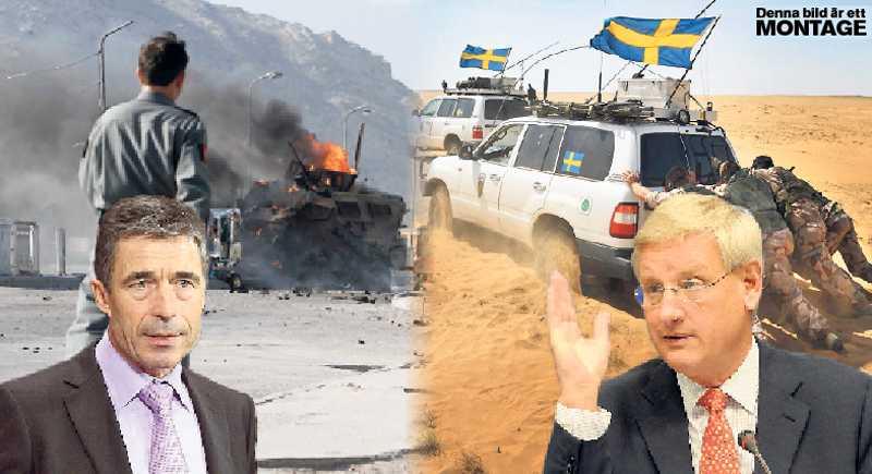 Fel ute Anders Fogh Rasmussen och Carl Bildt vill ha lång närvaro i Afghanistan.