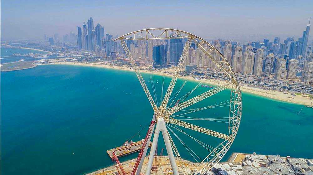 Världens största pariserhjul byggs i Dubai