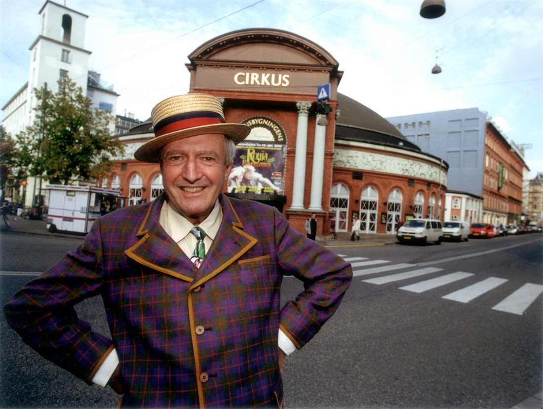 Hasse Wallman när han tog över Cirkus i Köpenhamn 2003.