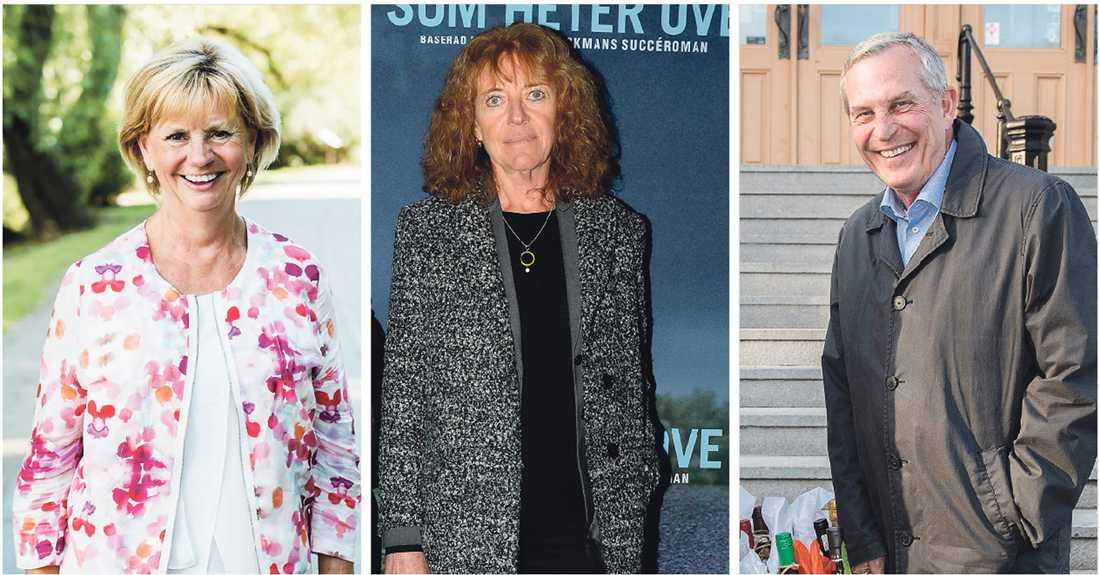 STJÄRNTRIO. Margit Silberstein (i mitten) borde göra ett cool pensionärsprogram med Marianne Rundström och Claes Elfsberg.