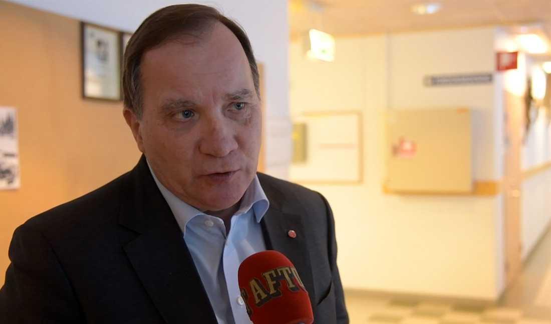 Kampen mot coronaviruset är regeringens viktigaste uppgift just nu, enligt Stefan Löfven.