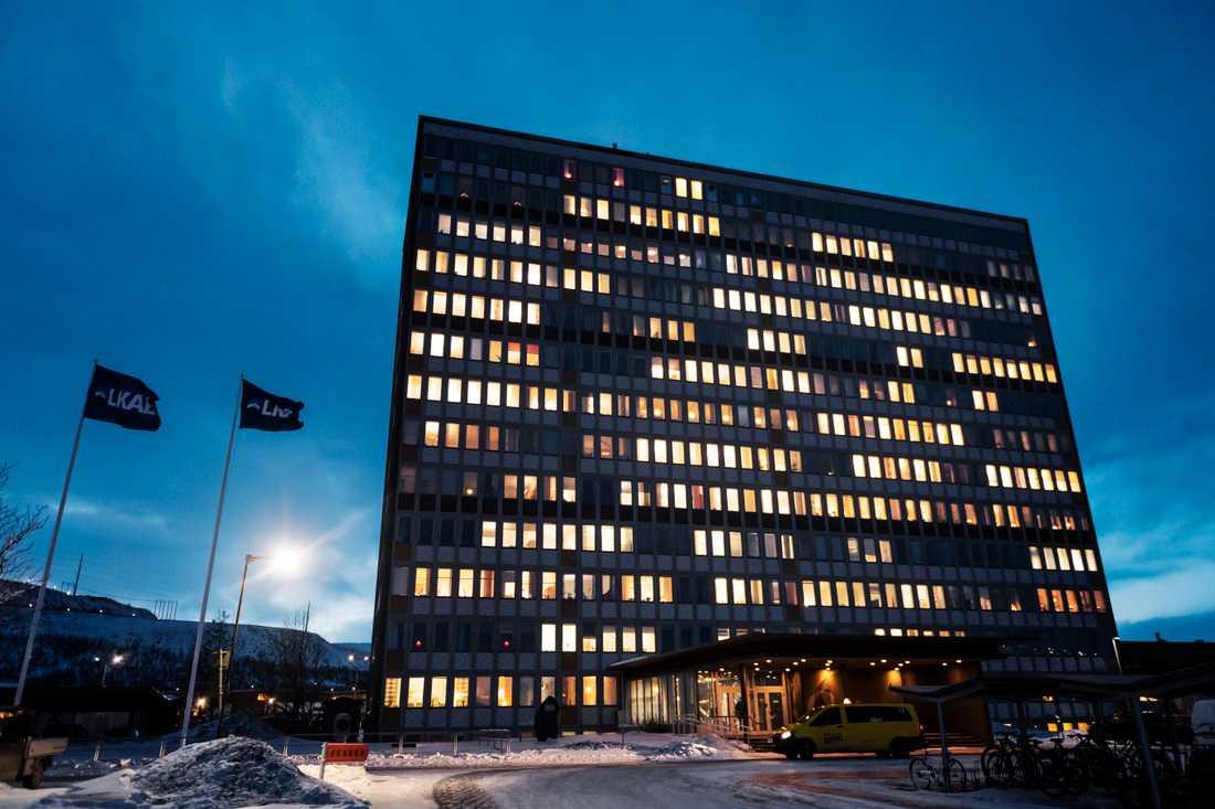 LKAB:s huvudkontor i Kiruna. Arkivbild.