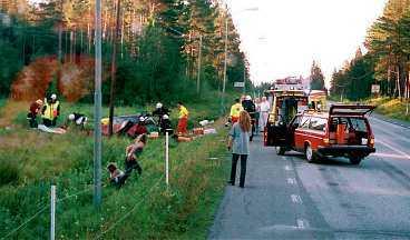 De tre norrmännen körde av vägen på E14 mellan Östersund och Åre.