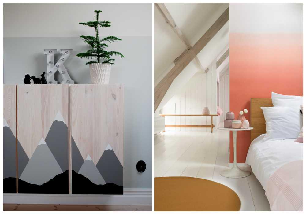 Prova att måla på dina möbler eller testa en ombréevägg!
