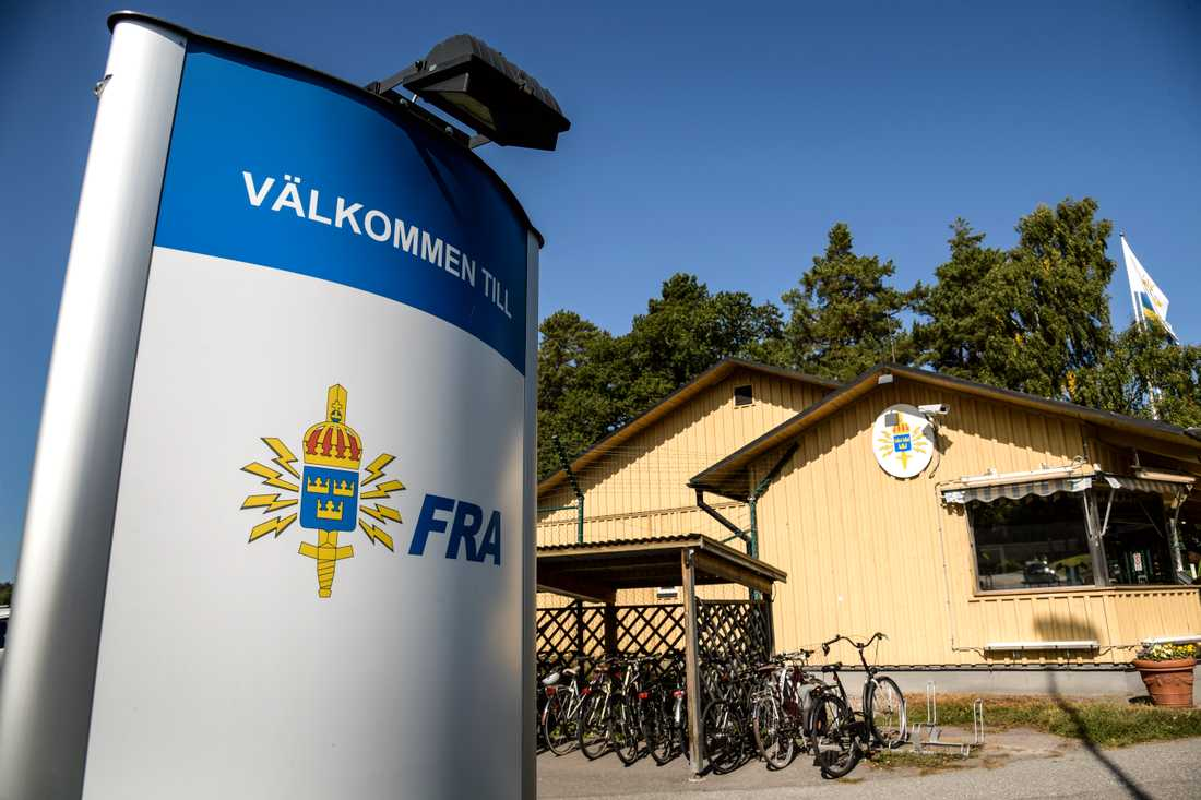 Huvudkontoret för Försvarets radioanstalts, FRA, på Lovön utanför Stockholm.
