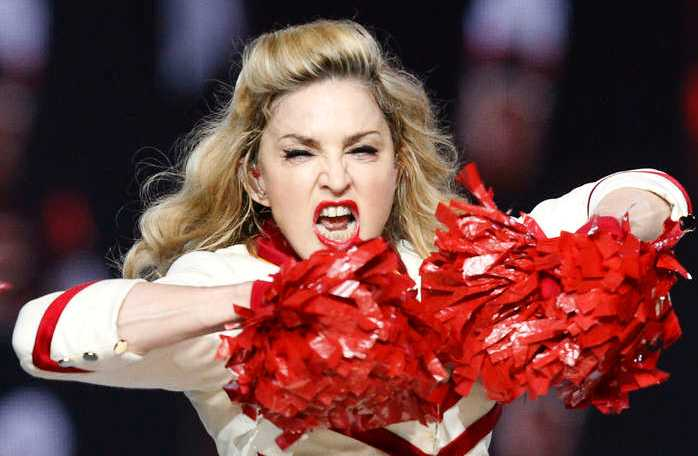 Madonna under en konsert i Los Angeles.