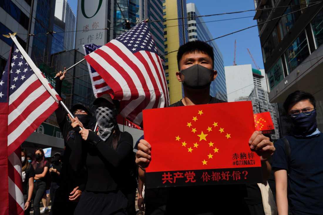 Våldet fortsätter när protesterna i Hongkong nu pågått i hundra dagar.