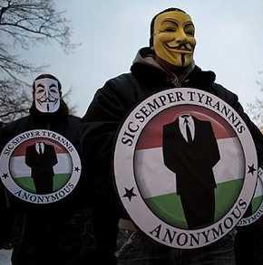Protester mot Acta i Ungern tidigare i år.