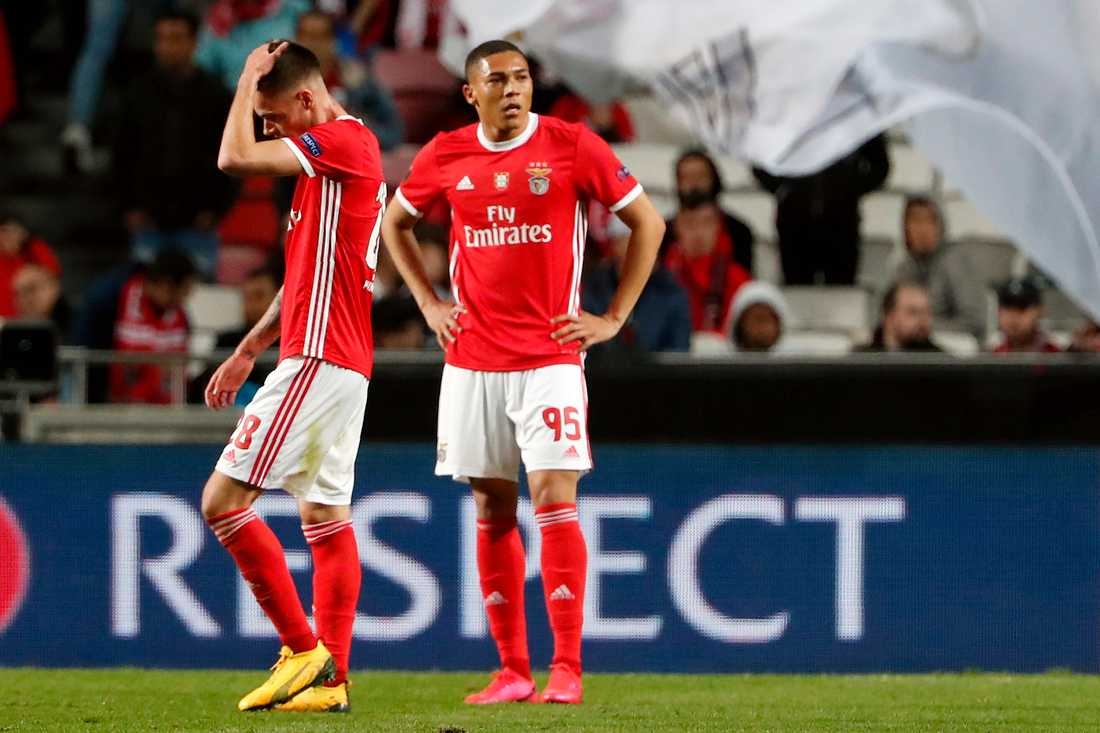 Julian Weigl till vänster och Carlos Vinicius i Benfica