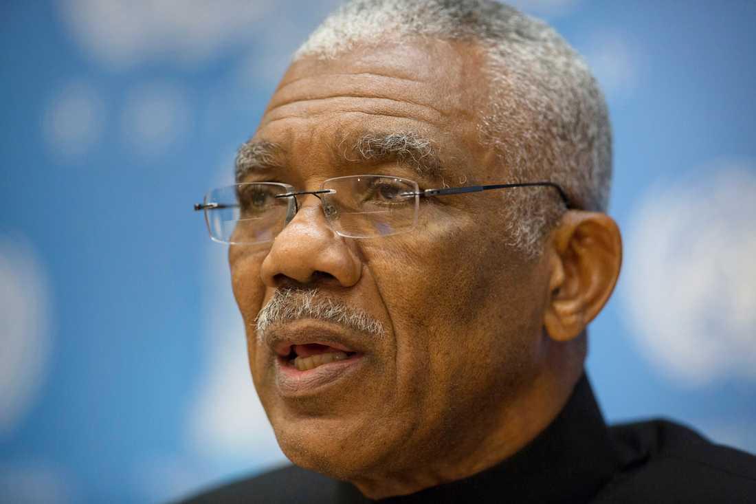 Den sittande presidenten David Granger tycks ha förlorat valet i Guyana. Arkivbild.