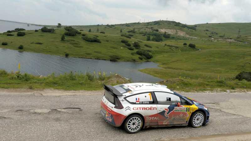 Sébastien Loeb var snabbast på de bulgariska vägarna.