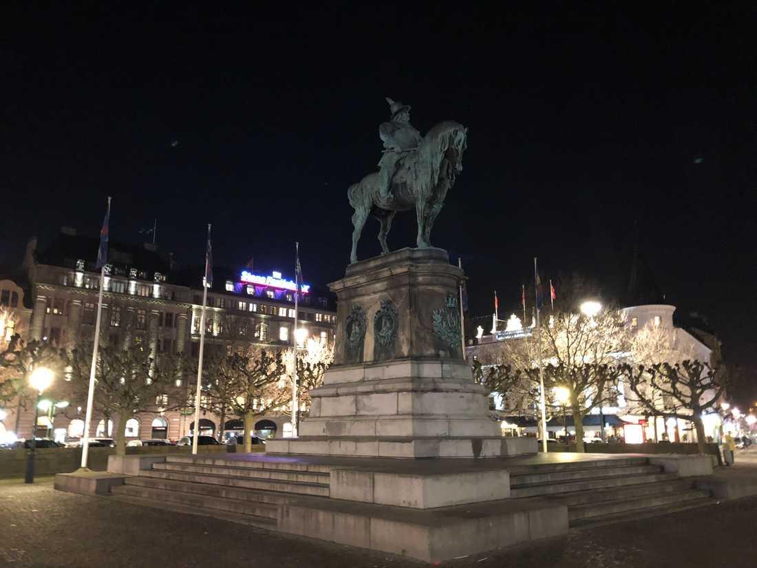 Statyn av Karl X Gustav har stått i Malmö sedan 1896.